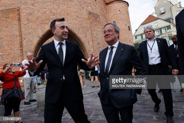 North Rhine-Westphalia's State Premier, Christian Democratic Union leader and CDU's candidate for chancellor Armin Laschet and CDU Secretary General...
