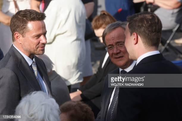 North Rhine-Westphalia's State Premier, Christian Democratic Union leader and CDU's candidate for chancellor Armin Laschet , CDU Secretary General...