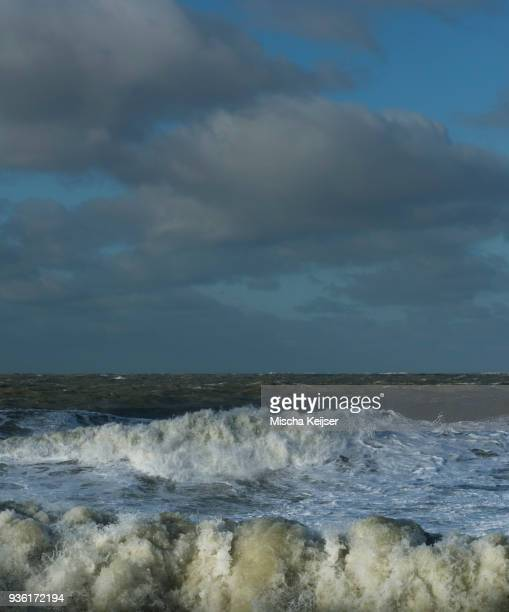 North sea during severe storm