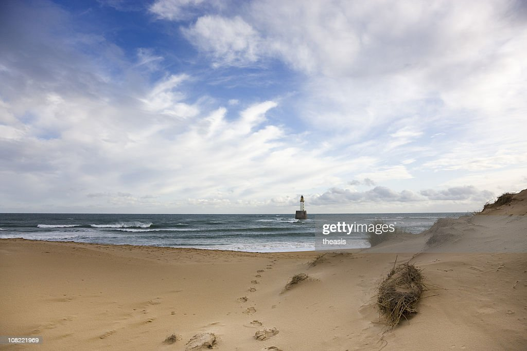 North Sea Lighthouse - Morning Light : Stock Photo