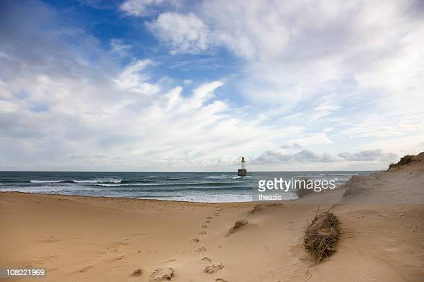 north sea lighthouse - morning light - rattray head stock pictures, royalty-free photos & images