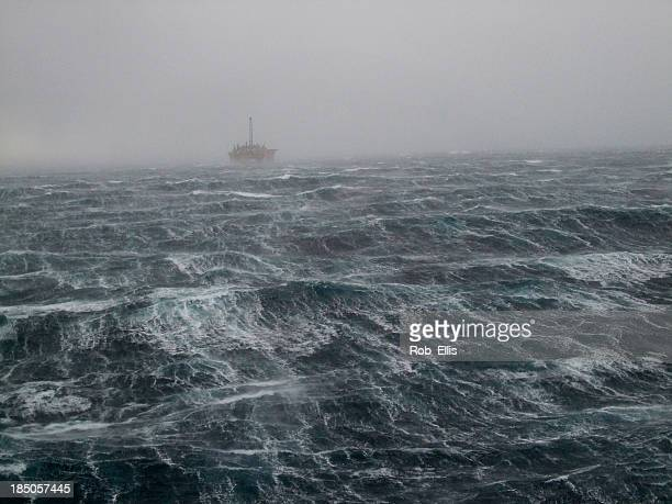 North Sea Oilrig Storm