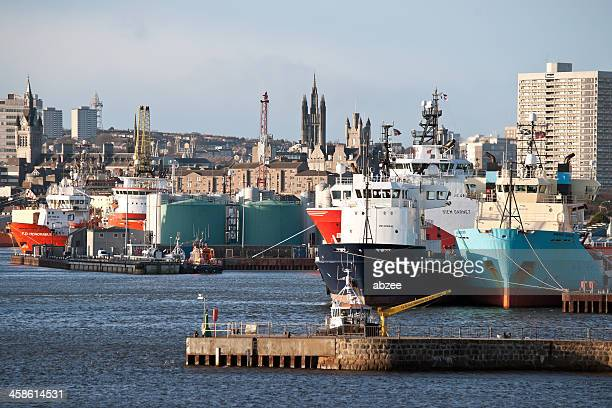North Sea Supply Vessels in Aberdeen Harbour