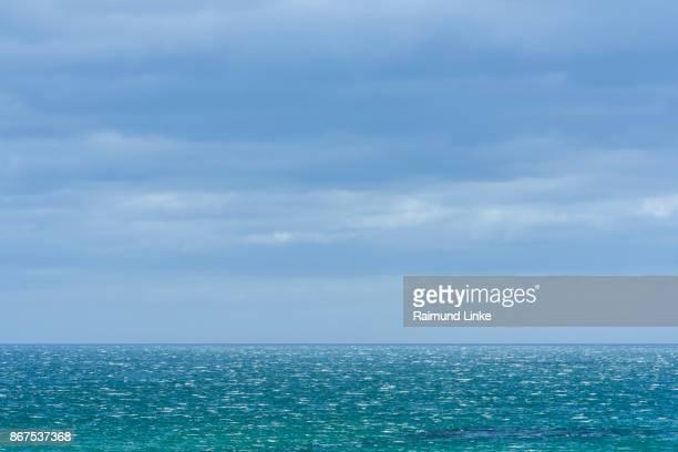 North sea with waves, Bamburgh, Northumberland, United Kingdom