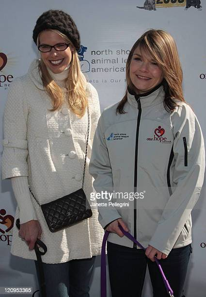 North Shore Animal League Spokesperson Beth Ostrosky Stern and Actress Kathryn Erbe attends the 9th annual Tour for Life sendoff at the North Shore...
