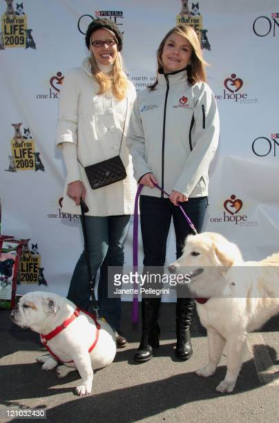North Shore Animal League Spokesperson Beth Ostrosky Stern with her dog Bianca and Actress Kathryn Erbe with her muttigree Lilah attends the 9th...