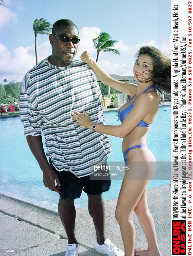 Frank Bruno Poses With 18 Year