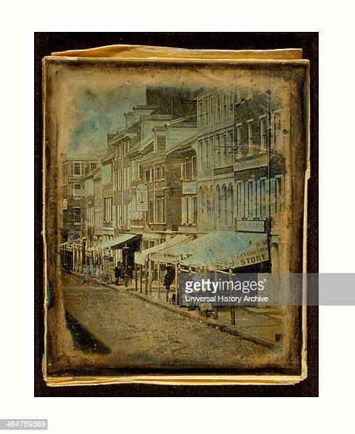 North Side Of Chestnut Street, Philadelphia, Pennsylvania, Us, USA, America, William G. Mason, Photographer, Between 1842 And 1845.