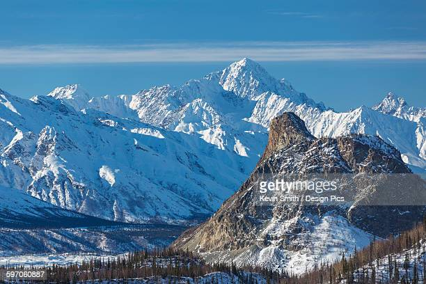 north side of the chugach mountains seen from the glenn highway east of sheep mountain, southcentral alaska, usa - chugach mountains stock pictures, royalty-free photos & images