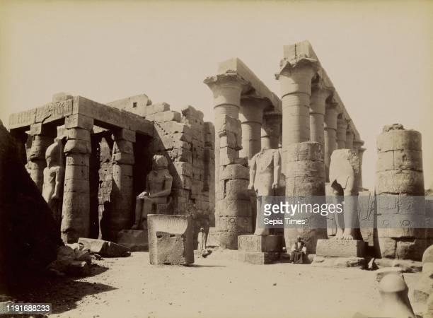 North Side of the Temple of Amenhotep at Luxor / Luxor, Temple d'Amenoflin Cote Nord, Antonio Beato , 1880 - 1889, Albumen silver print, 26.1 x 35.7...