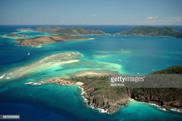 north sound off virgin gorda - islas de virgin gorda fotografías e imágenes de stock