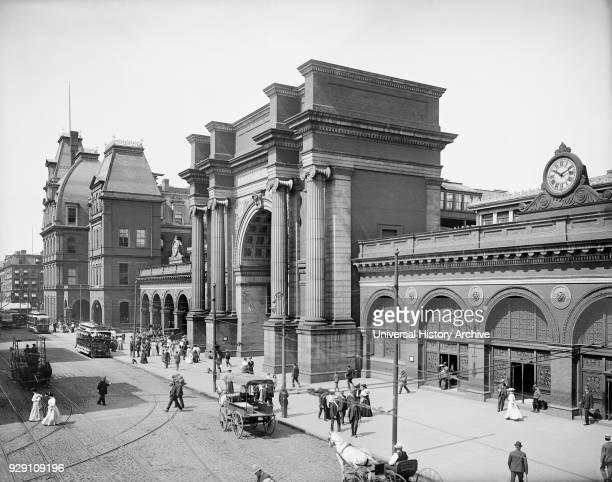 North Station Boston Massachusetts USA Detroit Publishing Company 1905