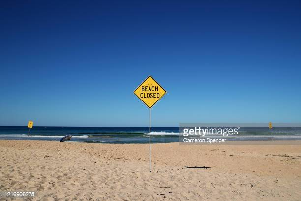 North Steyne Beach is seen desolate in Manly on April 05, 2020 in Sydney, Australia. Northern Beaches Council today closed Manly, North Steyne,...