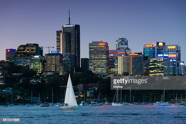 north sydney - skyline - north stock pictures, royalty-free photos & images