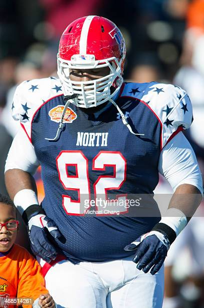 North team defensive tackle Justin Ellis of LouisianaTech during the Senior Bowl on January 25 2014 at LaddPeebles Stadium in Mobile Alabama
