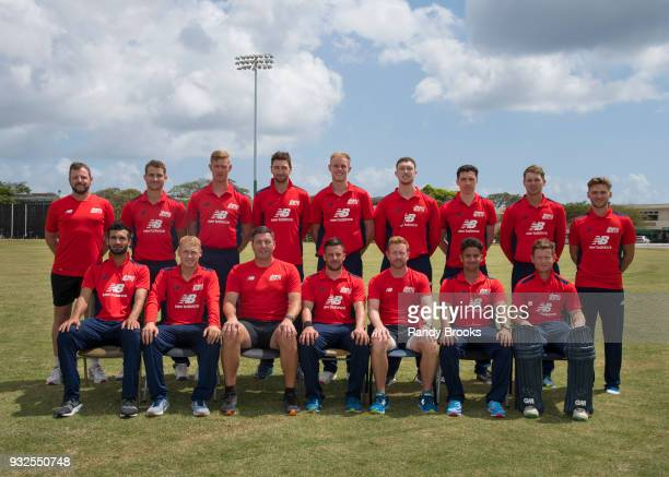 North team pose prior to the ECB North v South Series warm up game between North and Northamptonshire at 3Ws Oval on March 15 2018 in Bridgetown...