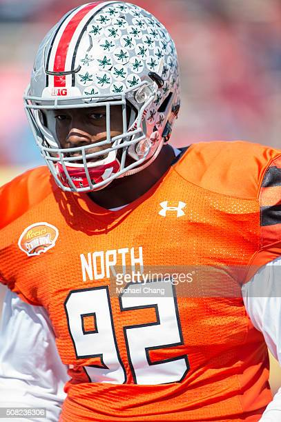 North team's defensive tackle Adolphus Washington with Ohio State on January 30 2016 at LaddPeebles Stadium in Mobile Alabama