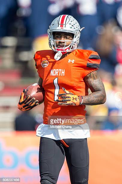 North team's wide receiver Braxton Miller with Ohio State on January 30 2016 at LaddPeebles Stadium in Mobile Alabama