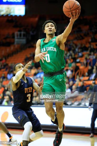 North Texas Mean Green guard Ryan Woolridge attempts a layup during the a college basketball game between North Texas Mean Green and UTEP Miners on...