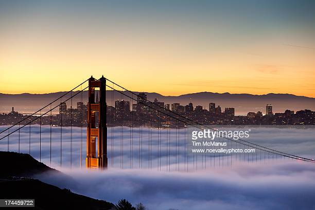 North Tower of the Golden Gate Bridge at Dawn