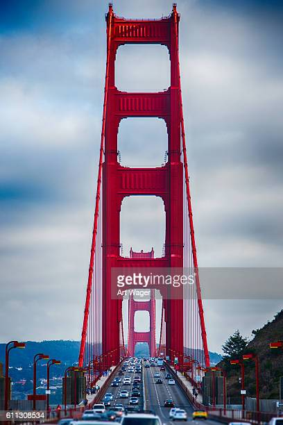 North Tower of the Golden Gate Bridge at Rush Hour