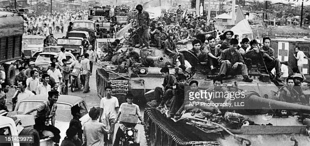 North Vietnamese tanks continue to roll April 30 1975 into the city of Saigon ending US's 15year involvement in Vietnam The war in Vietnam ended...