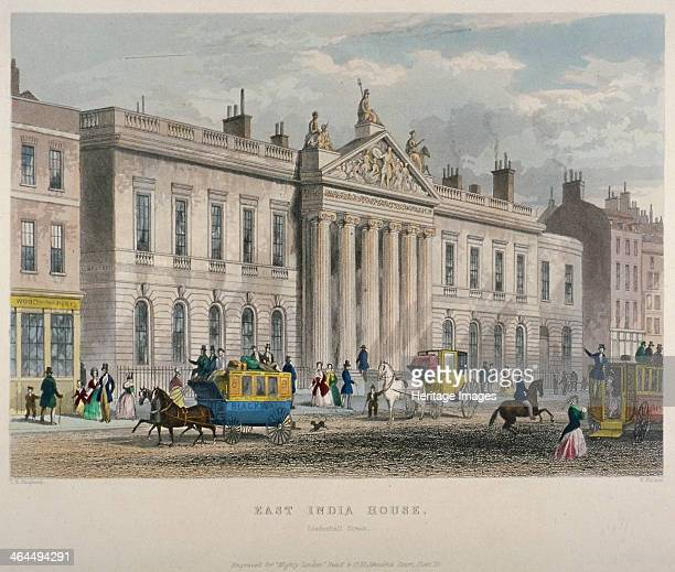 North view of East India House Leadenhall Street City of London 1850