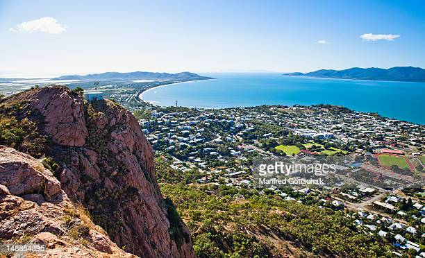 north ward and rowes bay from castle hill. - north stock pictures, royalty-free photos & images