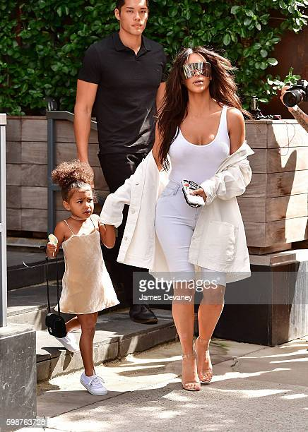 North West and Kim Kardashian seen on the streets of Manahttan on September 2 2016 in New York City