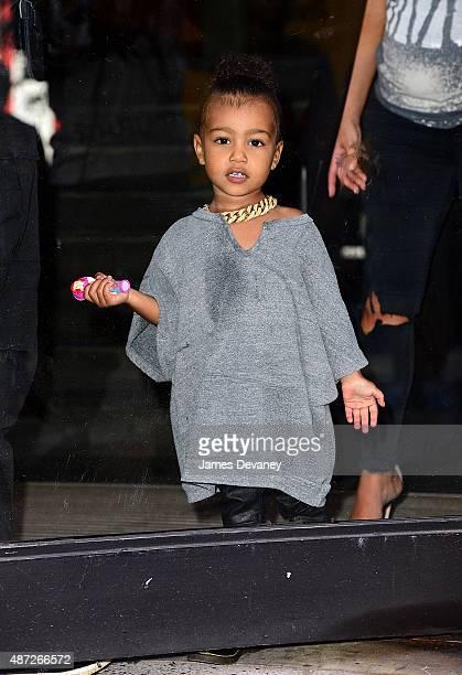North West and Kim Kardashian visit Milk Studios on September 7 2015 in New York City