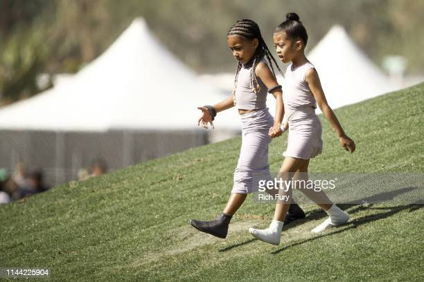 North West and Ryan Romulus attend Sunday Service during the 2019 Coachella Valley Music And Arts Festival on April 21 2019 in Indio California