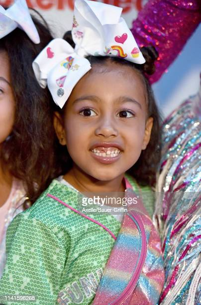 North West attends JoJo Siwa's Sweet 16 Birthday celebration at W Hollywood on April 09 2019 in Hollywood California