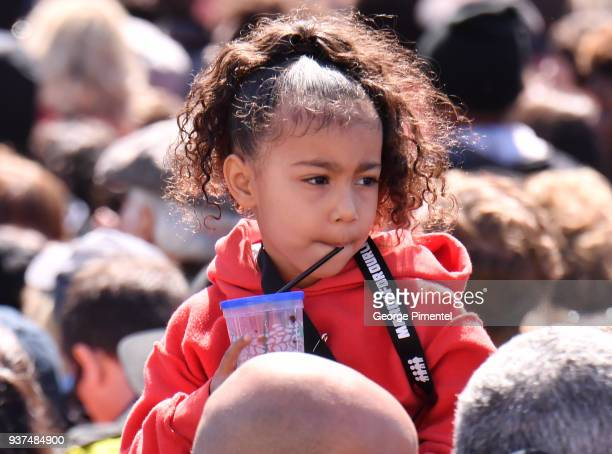 North West is seen in the crowd at March For Our Lives on March 24 2018 in Washington DC