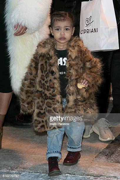 North West is seen on February 14 2016 in New York City