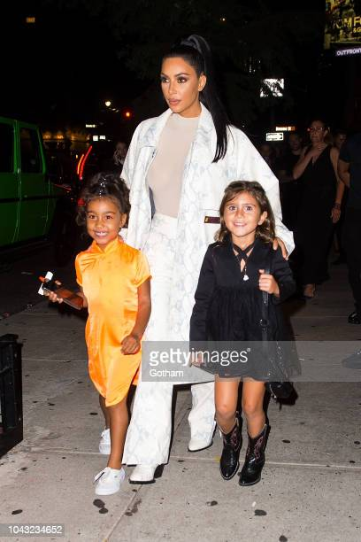 North West Kim Kardashian and Penelope Disick are seen in SoHo on September 29 2018 in New York City