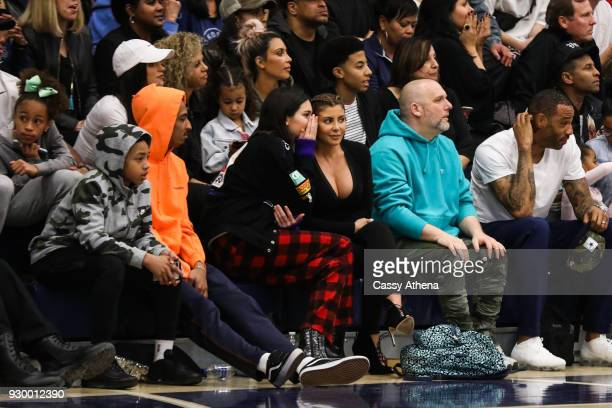North West Kim Kardashian Taco Bennett Kendall Jenner Kourtney Kardashian Penelope Disick Larsa Younan and Kenyon Martin Sr watch courtside as Sierra...