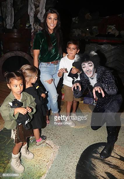 North West Penelope Disick Kourtney Kardashian Mason Disick and 'So You Think You Dance' Season 11 Winner Ricky Ubeda as 'MrMistoffelees' visit...