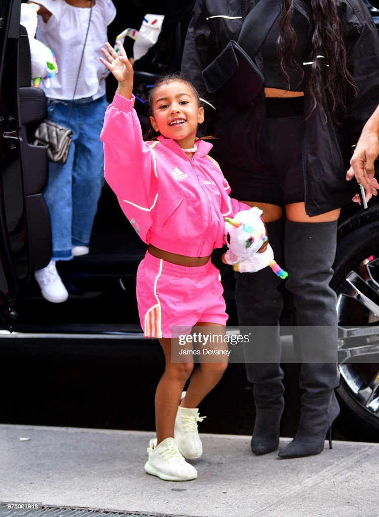 North West seen on the streets of Manhattan on June 14, 2018 in New York City.