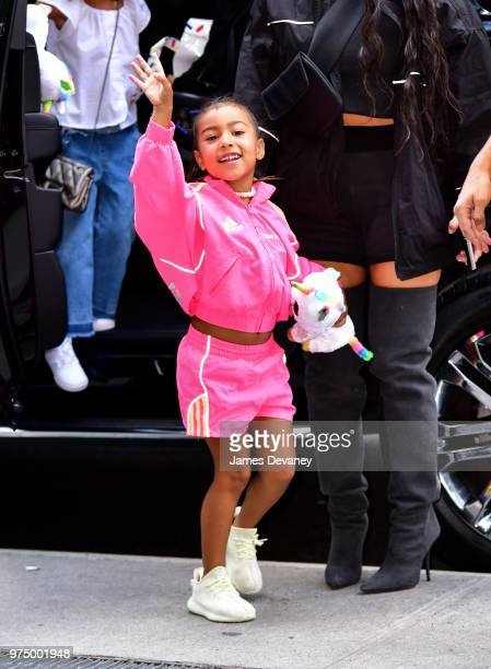 North West seen on the streets of Manhattan on June 14 2018 in New York City