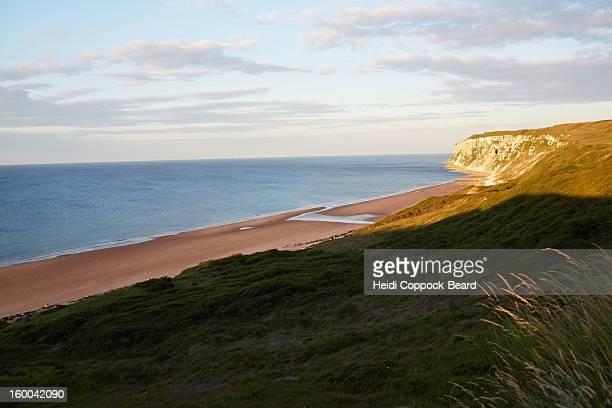 north yorkshire coastline - heidi coppock beard stock-fotos und bilder