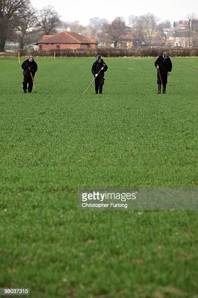 North Yorkshire Police search farm land in the Outgang area near York University as part of the investigation into the disappearance of Claudia...