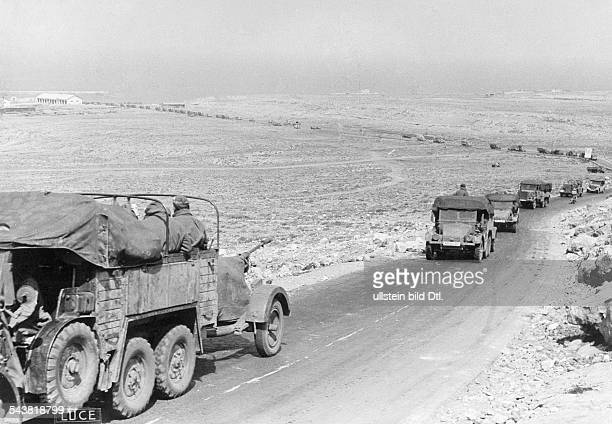2WW Northafrica war theater german africa corps Feb41May43german advance on to Derna Lorry column early April 1941