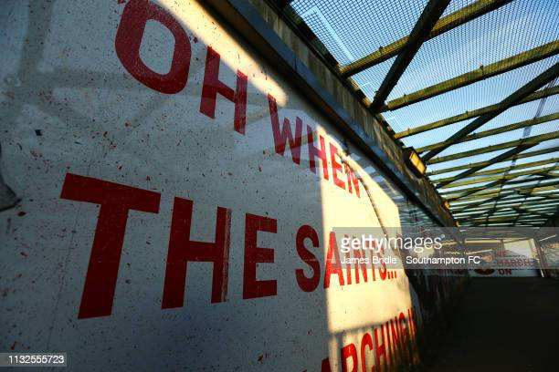 Northam Bridge ahead of the Premier League match between Southampton FC and Fulham FC at St Mary's Stadium on February 27 2019 in Southampton United...