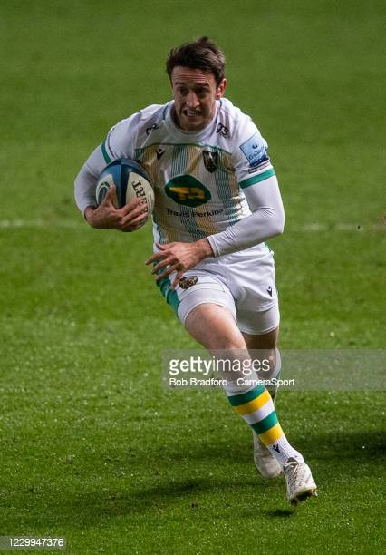 Northampton Saints' Alex Mitchell in action during the Gallagher Premiership Rugby match between Bristol and Northampton Saints at Ashton Gate on...