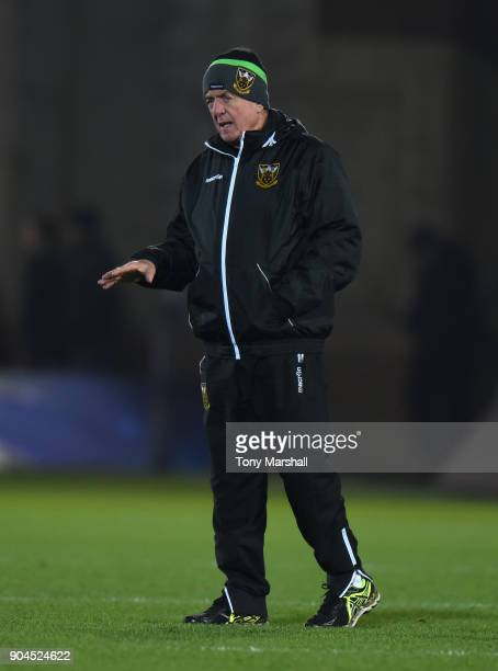 Northampton Saints Director of Rugby Alan Gaffney during the European Rugby Champions Cup match between Northampton Saints and ASM Clermont Auvergne...