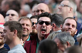 leicester england northampton saints fan celebrates