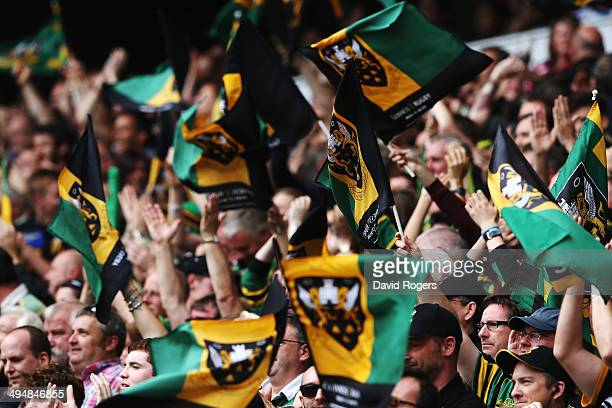 Northampton Saints fans during the Aviva Premiership Final between Saracens and Northampton Saints at Twickenham Stadium on May 31 2014 in London...