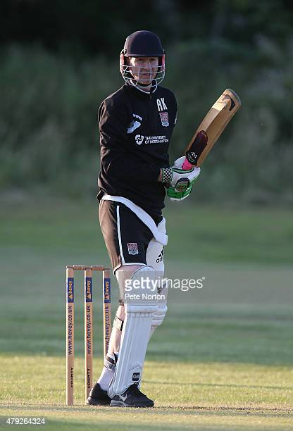 Northampton Town assistant manager Alan Knill looks on during a 20/20 Cricket Match between Bold Dragoon CC and Northampton Town FC in aid of the...