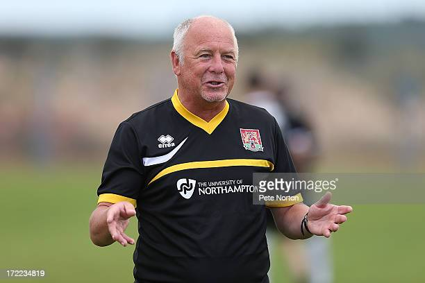 Northampton Town assistant manager Andy King gives intructions during a preseason training session on July 1 2013 in Novigrad Croatia