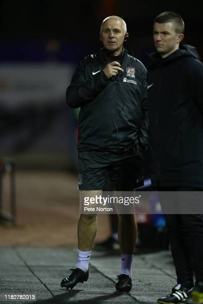 Northampton Town coach David Kelly looks on during the Sky Bet League Two match between Carlisle United and Northampton Town at Brunton Park on...